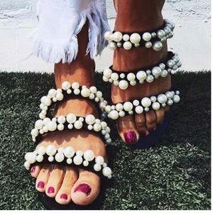Zara pearl sandals